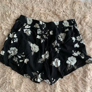 Floral Belted Soft Shorts